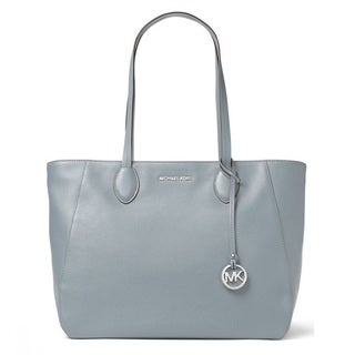 Michael Kors Ani North/South Dusty Blue Top Zip Tote Bag