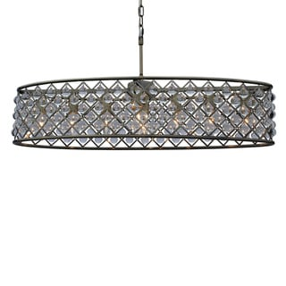 Cassiel Antique-brass Crystal Oval Chandelier