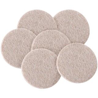"Waxman Consumer Group 4713295N 2"" Oatmeal Round Self-Stick Felt Pads 6-ct"