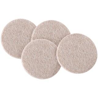 "Waxman Consumer Group 4713695N 3"" Oatmeal Round Self-Stick Felt Pads 4-ct"