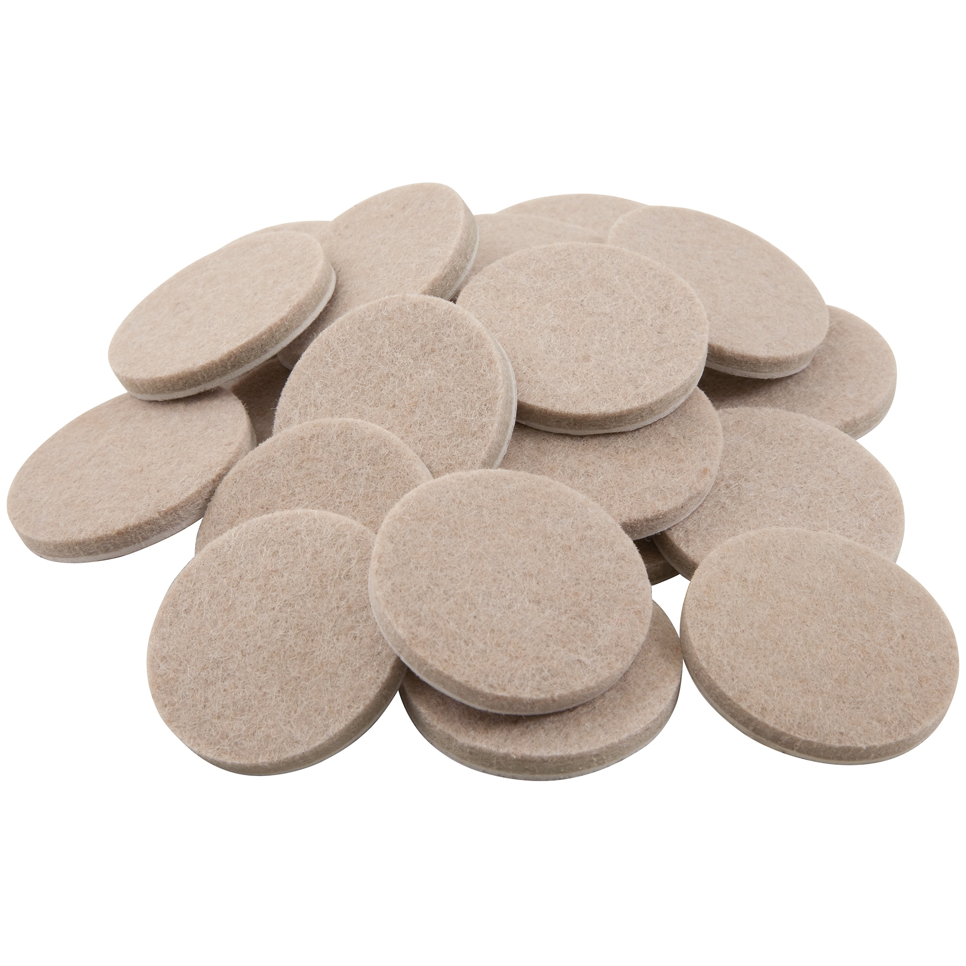 Waxman Consumer Group 4718395N 1-1/2 Oatmeal Round Self-Stick Felt Pads 24-ct (Hardware)