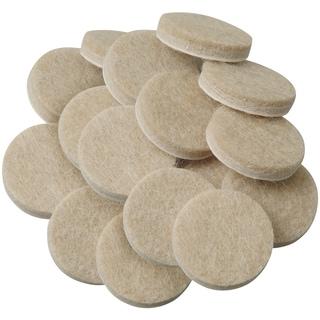 "Waxman Consumer Group 4718495N 1"" Oatmeal Round Self-Stick Felt Pads 16-ct"