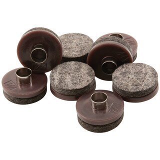 "Waxman Consumer Group 4718795N 1"" Brown Round Nail-On Felt Pads 8-ct"