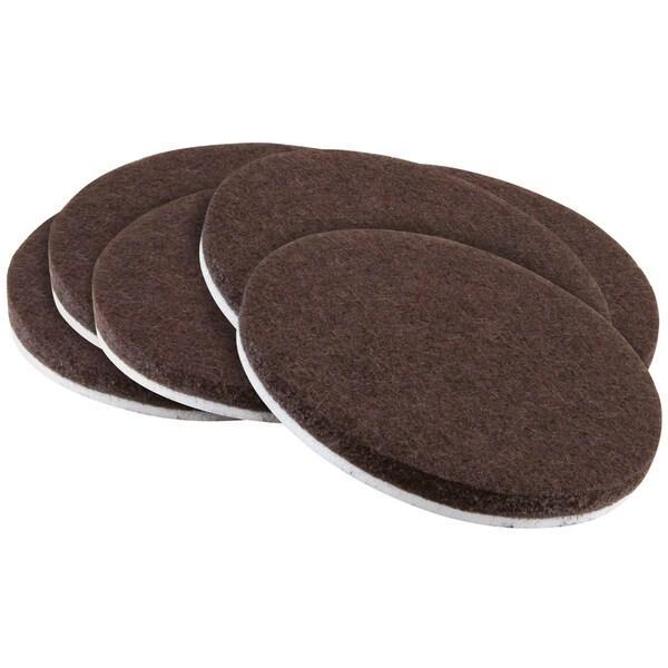 "Waxman Consumer Group 4723295N 2"" Brown Round Self-Stick Felt Pads 6-ct"