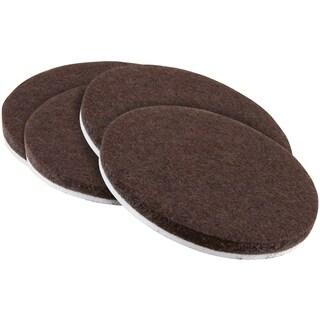 "Waxman Consumer Group 4723695N 3"" Brown Round Self-Stick Felt Pads 4-ct"