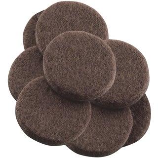 "Waxman Consumer Group 4729395N 1-1/2"" Brown Round Self-Stick Felt Pads 8-ct"