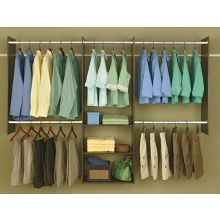 Easy Track RB1460-T 4' To 8' Truffle Easy Track Deluxe Starter Closet