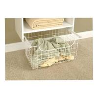 """Easy Track 1308 8"""" White Easy Track Wire Basket"""