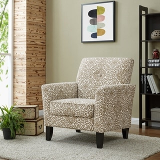 Portfolio Alex Barley Grey Damask Arm Chair