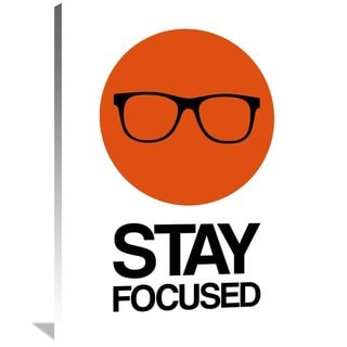 Naxart Studio 'Stay Focused Circle Poster 1' Stretched Canvas Wall Art