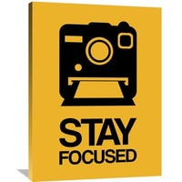 Naxart Studio 'Stay Focused Polaroid Camera Poster 2' Stretched Canvas Wall Art