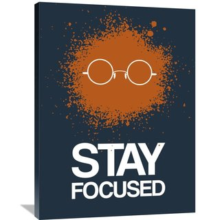 Naxart Studio 'Stay Focused Splatter Poster 4' Stretched Canvas Wall Art
