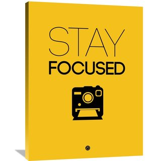 Naxart Studio 'Stay Focused Poster 2' Stretched Canvas Wall Art