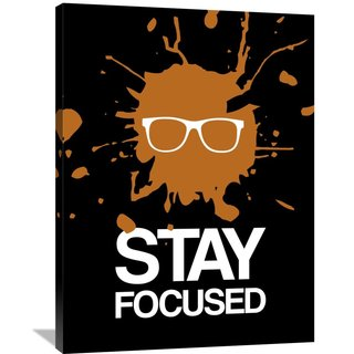 Naxart Studio 'Stay Focused Splatter Poster 3' Stretched Canvas Wall Art