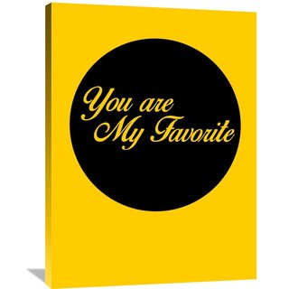 Naxart Studio 'You Are My Favorite' Multicolored Canvas Wall Art