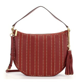 Michael Kors Suede Large Brick Convertible Hobo Handbag