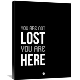 Naxart Studio 'You Are Not Lost' Black and White Stretched Canvas Wall Art