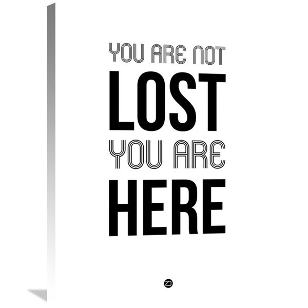 Naxart Studio 'You Are Not Lost' Stretched Canvas Wall Art - Black/Grey/White