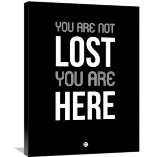Naxart Studio 'You Are Not Lost' Black Stretched Canvas Wall Art