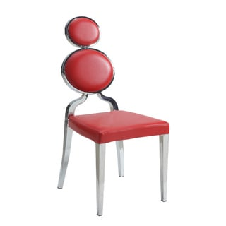 Christopher Knight Home Oriana Red Polyurethane Double-ring-back Dining Chairs (Set of 2)