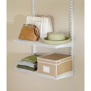 Rubbermaid FG3H9103WHT Configurations Closet Shelf Kit White