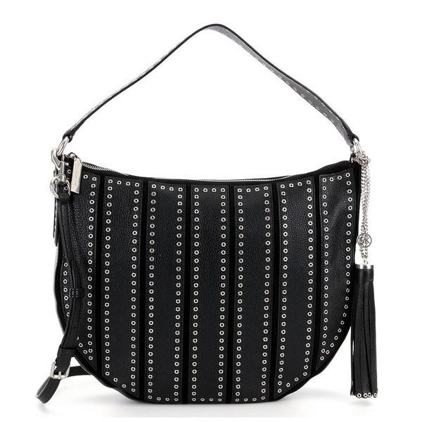 6ebaa1d571d2 Shop Michael Kors Suede Large Black Convertible Hobo Handbag - On ...