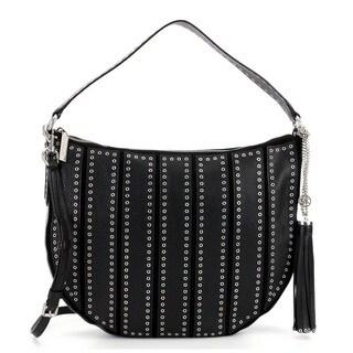 Michael Kors Suede Large Black Convertible Hobo Handbag