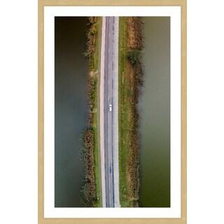 Marmont Hill - 'Lanes Across Water' by Karolis Janulis Framed Painting Print