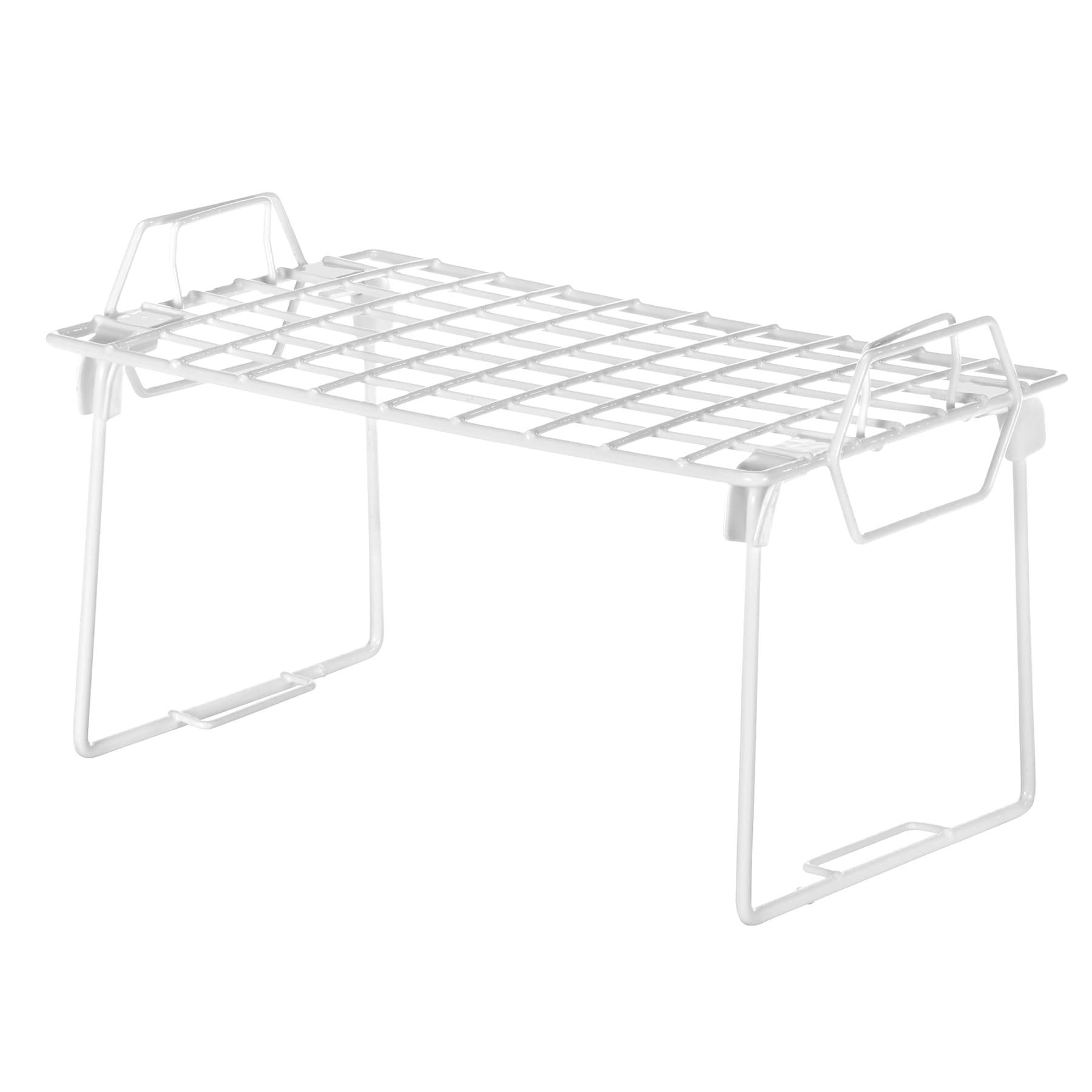 Whitmor Mfg Co 6023-3812 Small White Grid Stacking Shelf ...