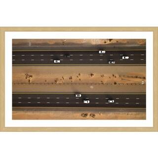 Marmont Hill - 'Highway Thru Desert' by Shoayb Hesham Framed Painting Print