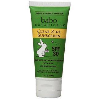 Babo Botanicals 3-ounce Clear Zinc Lotion SPF 30