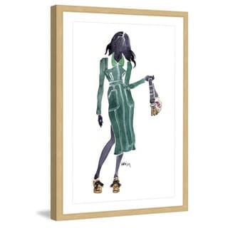 Marmont Hill - 'Lady in Green' by Lovisa Oliv Framed Painting Print