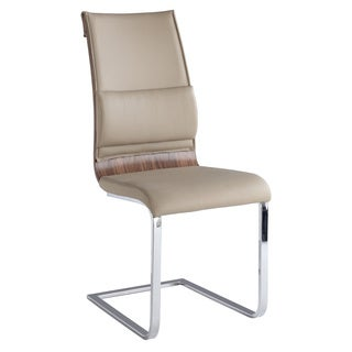 Christopher Knight Home Bethal Taupe Metal and Faux Leather Camel-back Bucket-seat Chairs (Set of 2)