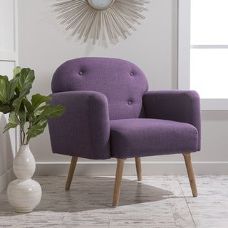 Sigourney Fabric Arm Chair by Christopher Knight Home