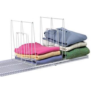 Wire Shelf Dividers | Shop Evelots Set Of 8 Closet Shelf Dividers For Wire Shelving Free