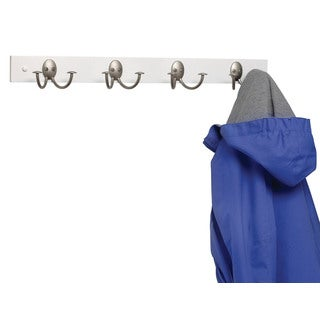 Spectrum Diversified 80078 Satin Nickel Wood Coat Rack