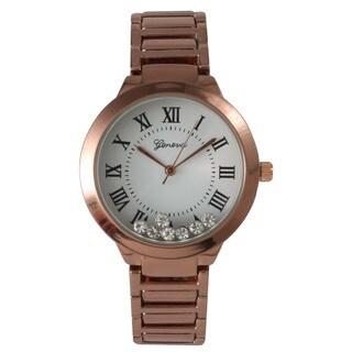 Olivia Pratt Women's Classic-Inspired Metal Alloy with Rhinestone Accents Bracelet Watch
