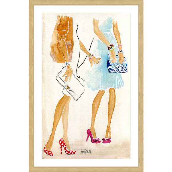 Marmont Hill - 'Fashion Week' by Lovisa Oliv Framed Painting Print - Multi