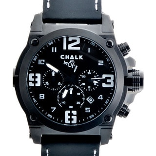 Chalk Quincy Canon P Diddy Black Ion-plated Stainless Steel 46-millimeter Watch