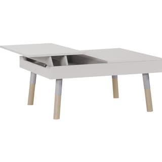 Lori Collection White Wood Coffee Table