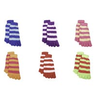 Imperial Home Women's Striped Toe Socks (Pack of 6 Pairs)