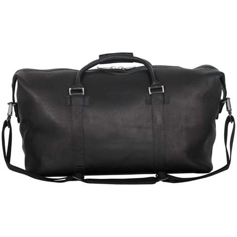 """Kenneth Cole Reaction """"I Beg to Duff-er"""" 20-Inch Full-Grain Colombian Leather Top Zip Travel Duffel Bag / Carry-On Duffel"""