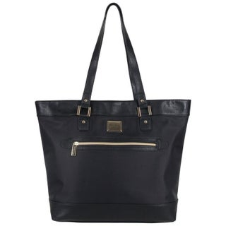 Kenneth Cole Reaction Women's Nylon Top Zip 16-inch Laptop Business Tote Bag with Gold Plated Hardware