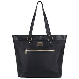 Kenneth Cole Reaction Women S Nylon Top Zip 16 Inch Laptop Business Tote Bag With Gold