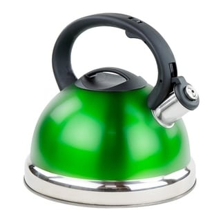 Stainless Steel Whistling Tea Kettle - 2.8 L Encapsulated Tea Maker Pot Silver