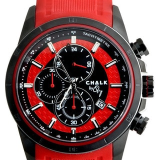 Chalk Men's Black/Red Stainless Steel/Silicone Fashion Watch