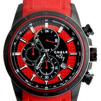 Chalk Men's Black/Red Stainless Steel/Silicone Fashion Watch - Black