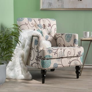 Cool Living Room Chairs. Harrison Floral Fabric Tufted Club Chair by Christopher Knight Home Living Room Chairs For Less  Overstock com