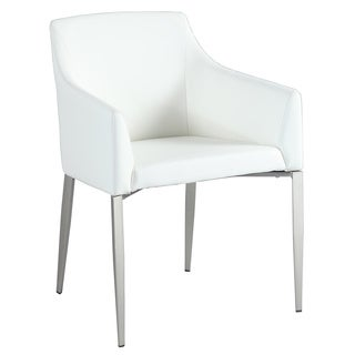 Somette Kathy White PU/Metal Accent Dining Chair