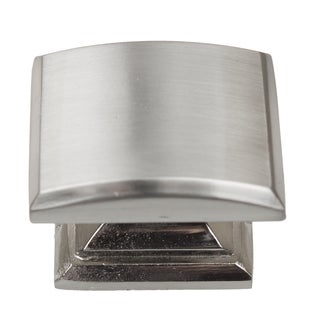 GlideRite 1.25-inch Domed Convex Square Satin Nickel Cabinet Knobs (Pack of 10 or 25)